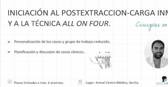 Curso implantes dentales y técnica «All on four» impartido por el Dr Herce