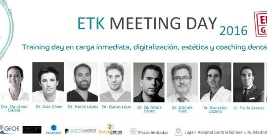 El Dr. Herce participa como ponente en el próximo Meeting Day de ETK en Madrid